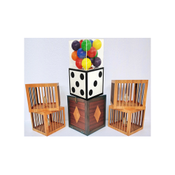 Transformation of Dice to Crystal Cube then to 4 Cages (Wooden) by Tora Magic - Trick wwww.magiedirecte.com