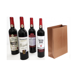 Wine Bottles From Paper Bag (4 Bottles) by Tora Magic - Trick wwww.magiedirecte.com