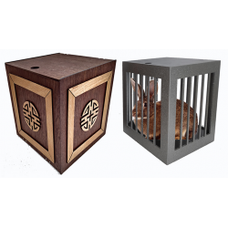 Vanishing and Appearing Dove Cage in a Cube (Wooden) by Tora Magic - Trick wwww.magiedirecte.com