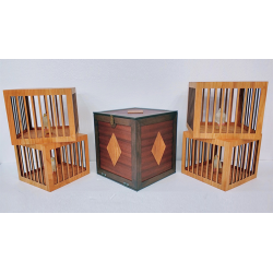 Everything to 4 Dove Cages (Wooden) by Tora Magic - Trick wwww.magiedirecte.com