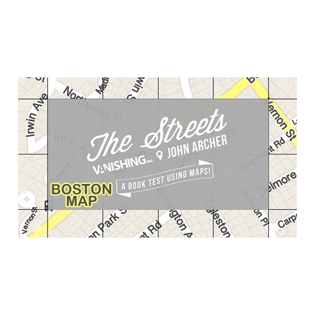 The Streets (Boston Map) by John Archer and Vanishing Inc. - Trick wwww.magiedirecte.com