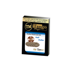 PERFECT SHELL COIN SET HALF DOLLAR (Shell and 4 Coins ) - Tango Magic wwww.magiedirecte.com