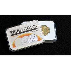 Triad Coins (Euro Gimmick and Online Video Instructions) by Joshua Jay and Vanishing Inc. - Trick wwww.magiedirecte.com