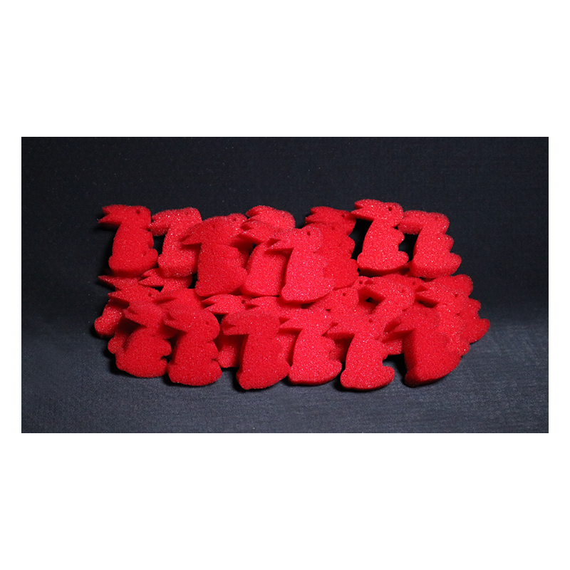 rouge Balle en mousse super douce 5cm