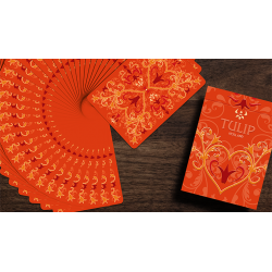 Tulip Playing Cards (Orange) wwww.magiedirecte.com