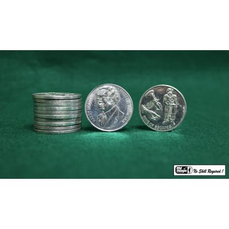 HOUDINI PALMING COINS (12 pieces) - Mr. Magic wwww.magiedirecte.com