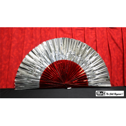 """Production Fan Rolex 1"""" x 18"""" (Red and White) by Mr. Magic - Trick wwww.magiedirecte.com"""