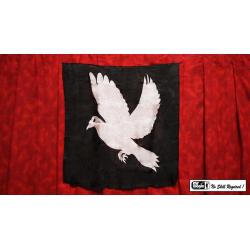 "Production Silk Dove Print 16"" x 15"" by Mr. Magic wwww.magiedirecte.com"