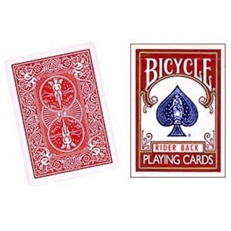Bicycle Rider Back Rouge ancien étui wwww.magiedirecte.com