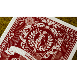 Justice (Red) Playing Cards wwww.magiedirecte.com