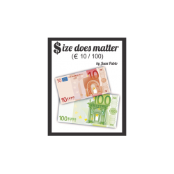 Size Does Matter EURO 10 to 100 (Gimmicks and Online Instructions) by Juan Pablo Magic wwww.magiedirecte.com