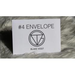 Number 4 Envelope (Gimmicks and Online Instructions) by Blake Vogt - Tour de Magie wwww.magiedirecte.com
