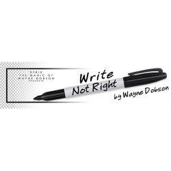 Write, Not Right Sharpie (Gimmicks and Online Instructions) by Wayne Dobson - Trick wwww.magiedirecte.com