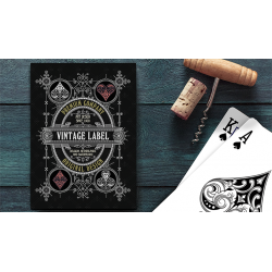 Vintage Label Playing Cards (Gold Gilded Black Edition) by Craig Maidment wwww.magiedirecte.com
