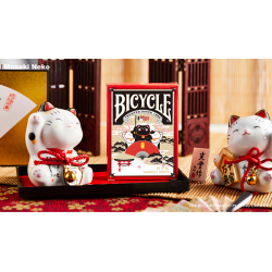 Bicycle Maneki Neko (RED) Playing Cards by Bocopo wwww.magiedirecte.com