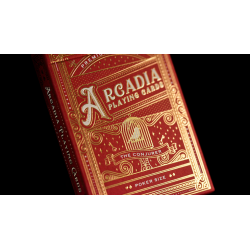 The Conjurer Playing Cards (Red) by Arcadia Playing Cards wwww.magiedirecte.com