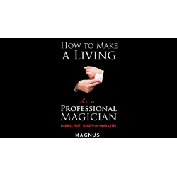 How To Make A Living as a Professional Magician by Magnus and Dover Publications - Book wwww.magiedirecte.com