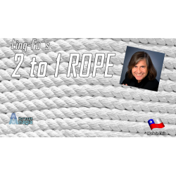 2 TO 1 Rope (White) by Aprendemagia - Trick wwww.magiedirecte.com