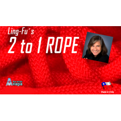 2 TO 1 Rope (Red) by Aprendemagia - Trick wwww.magiedirecte.com