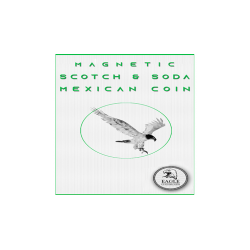 Magnetic Scotch and Soda Mexican Coin by Eagle Coins - Trick wwww.magiedirecte.com