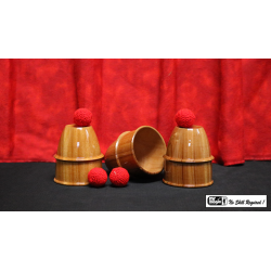 Cups and Balls (Wooden) by Mr. Magic - Trick wwww.magiedirecte.com