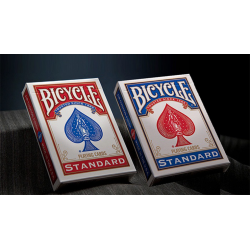 Bicycle Standard Playing Cards in Mixed Case Red/Blue(12pk) wwww.magiedirecte.com