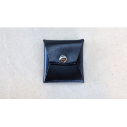 SQUARE COIN CASE (Cuir Noir) - Gentle Magic wwww.magiedirecte.com