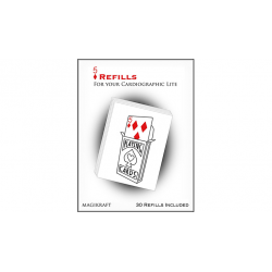 Cartographic Lite RED CARD 5 de Carreaux Refill - Martin Lewis - Trick wwww.magiedirecte.com
