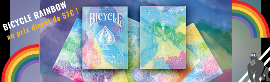 JEU DE CARTES BICYCLE RAINBOW ARC EN CIEL BOUTIQUE DE MAGIE